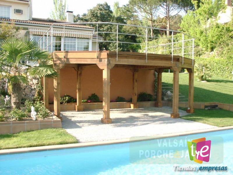 maderas valsain porche y jardin